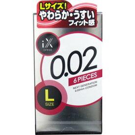 【送料無料・まとめ買い×5】ジェクス ジェクス イクス iX 0.02 1000 ウレタンコンドーム Lサイズ 6個入り×5点セット ( 4973210030029 )
