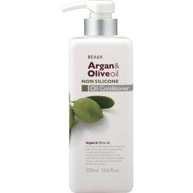 熊野油脂 ビューア ( BEAUA ) アルガン&オリーブ オイルコンディショナー 550ml 本体 ナチュラルフローラルの香り ( ノンシリコン・コンディショナー ) ( 4513574019027 )
