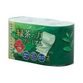 丸富製紙 ペンギン 緑茶の力プレミアム 3枚重ね 20m×2ロール ( トイレットペーパー トリプル ) ( 4902727008269 )