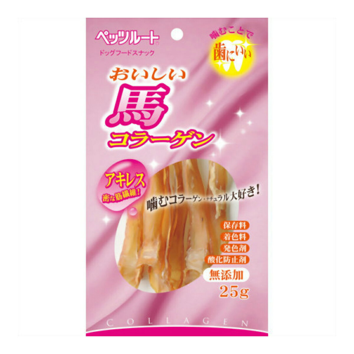 ペッツルート おいしい馬コラーゲン 25G (ペット用品 犬用 おやつ) ( 4984937687090 )