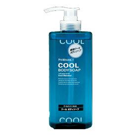 熊野油脂 ファーマアクト クール ボディソープ ボトル 600ML 本体 ( 体臭ケア 父の日 ) ( 4513574017290 )
