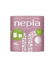 【送料無料・まとめ買い×5】王子ネピア ネピアロングトイレット 8ロール ダブル 桜色のペーパーが華やかな桜の香り ( 長尺 トイレットペーパーW 8R ) ×5点セット(4901121262826)