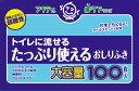 【介護用品特売】日本製紙クレシア アクティ トイレに流せるおしりふき 100枚入 無香料 ウェットタイプ 片手でらくらく!ストッパー付き(49017508062...