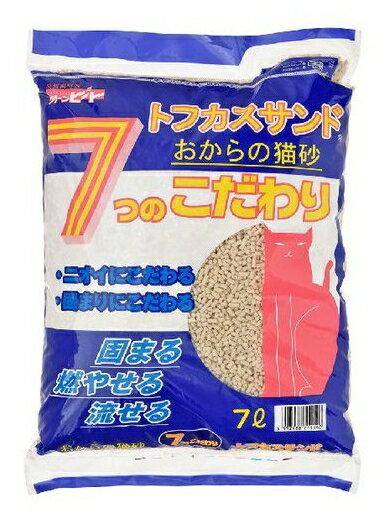 ペグテック クリーンビート トフカスサンド 7L おからのネコ砂( ペット用品 猫砂 ) ( 4997438711140)