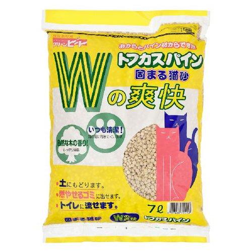 ペグテック クリーンビート トフカスパイン 7L 固まるネコ砂( ペット用品 猫砂 ) ( 4997438711157)
