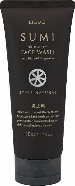 【品薄】熊野油脂 ディブ Deve 炭洗顔フォーム 130G ( SUMI face wash ) ( 4513574019720 )