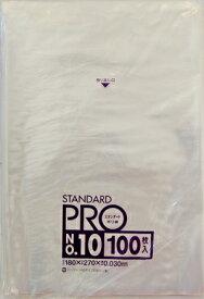 【送料無料・まとめ買い×3】日本サニパック スタンダードポリ袋 No10 透明 100枚入り×3点セット ( 4902393419109 )