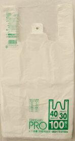 日本サニパック スタンダードプロ レジ袋 100枚入り Y−6H NO30/40 ( ポリ袋 ゴミ袋 ) ( 4902393518062 )