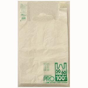 【送料込】【ケース販売】【ゴミ袋】【日本サニパック】レジ袋 50号 Y10H 白 0.025mm 100枚×10冊
