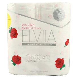 【送料込】四国特紙 エルビラ フレグランストイレットペーパー バラの香り 4ロール ダブル×12点セット ( 計48ロール ) ( 4901733310076 )