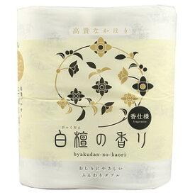 【4ロールパック】四国特紙 白檀の香り トイレットペーパー 30m×4ロール ダブル パルプ100% (トイレットロール4RW)( 4901733310946 )