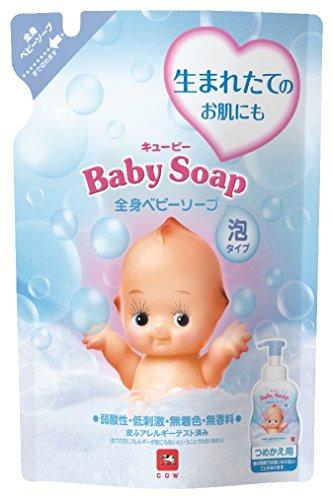 牛乳石鹸 キューピー 全身ベビーソープ ( 泡タイプ ) 詰替え 350ml 弱酸性・無香料・無着色 ( 4901525956505 )