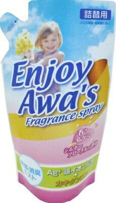 ロケット石鹸 エンジョイアワーズ 消臭スプレー シルキーフローラルの香り 詰替用 300ml ( 4903367091871 )