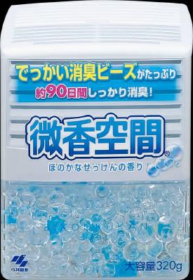 小林製薬 微香空間 せっけん 320g 微香タイプの消臭剤 ( 4987072073476 )