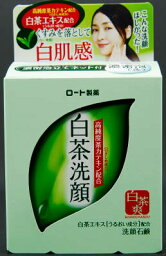 周末[限定!]超級市場星期五Sale!在5/25-]樂敦製藥肌膚研究室(表面實驗室)白茶清洗面孔肥皂85g濃緊密的泡展示的網路在的自然簡單的柚子風味的綠茶的香味(4987241122639)
