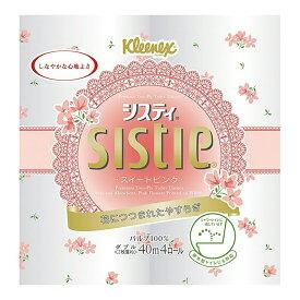 日本製紙クレシア クリネックス システィ 4ロール ダブル ( ピンク ) ( トイレットペーパー4RW ) ( 4901750251109 )