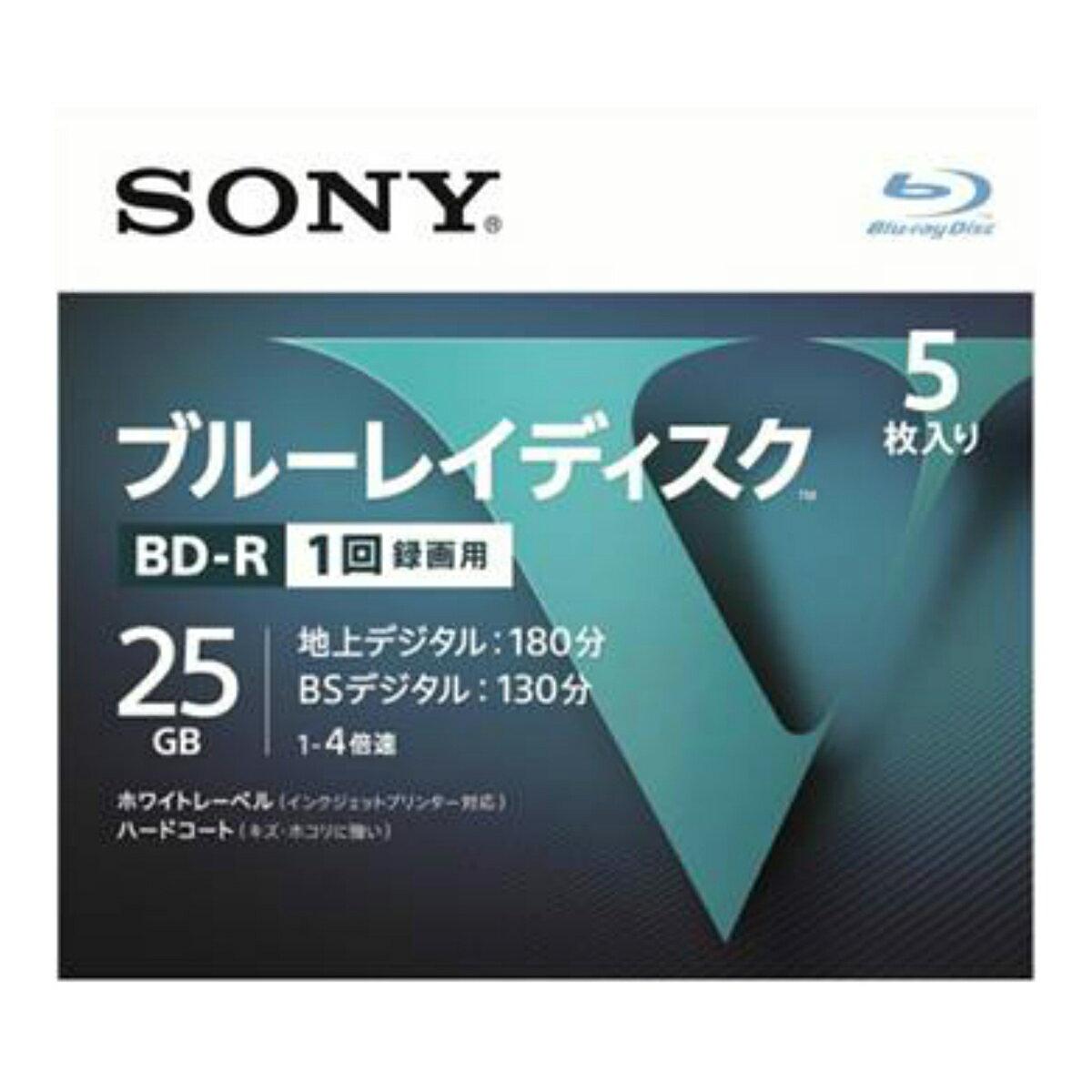 【送料無料・まとめ買い×024】ソニー ブルーレイディスク R4倍速1層 Vシリーズ 5BNR1VLPS4 5枚入 ×024点セット(4548736037229)