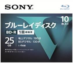 ソニーブルーレイディスクR4倍速1層Vシリーズ10BNR1VLPS410枚入(4548736037236)