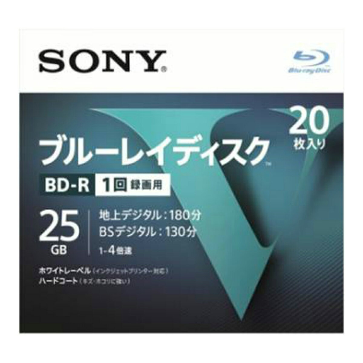 【送料無料・まとめ買い×006】ソニー ブルーレイディスク R4倍速1層 Vシリーズ 20BNR1VLPS4 20枚入 ×006点セット(4548736037243)