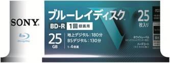 【送料無料・まとめ買い×012】ソニー ブルーレイディスク R4倍速1層 Vシリーズ 25BNR1VLPS4 25枚入 ×012点セット(4548736037250)