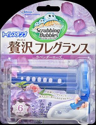 【無くなり次第終了】ジョンソン スクラビングバブル トイレスタンプ ぜいたくフレグランス ラベンダーローズの香り (トイレ洗剤 クリーナー)( 4901609008465 )