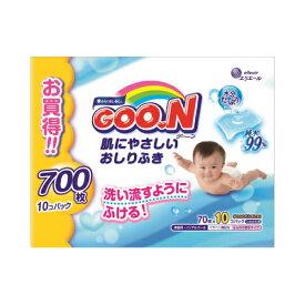 グーン 肌にやさしいおしりふき つめかえ用 70枚×10個×4個セット ( 4902011735420 )