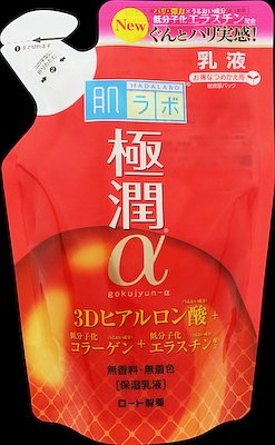ロート製薬肌ラボ極潤αハリ乳液つめかえ用140ml(4987241148523)