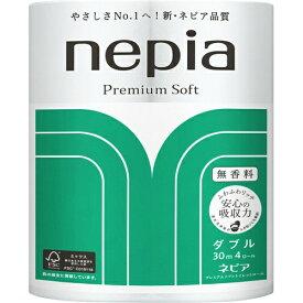 【王子ネピア】ネピア プレミアムソフト トイレットロール 4ロール ダブル (nepia Premium Soft トイレットペーパー4RW)( 4901121269085 )