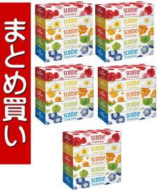 【まとめ買い×5】日本製紙クレシア スコッティ ティシュー フラワーボックス 320枚 ( 160組 ) ×5箱パック ×5点セット ( 4901750412555 )