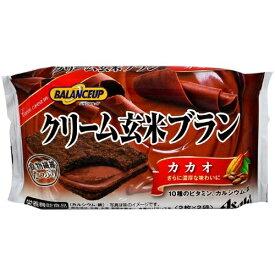 【まとめ買い×5】アサヒ バランスアップ クリーム玄米ブラン カカオ 2枚×2袋入