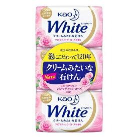 【送料込・まとめ買い×5個セット】花王 ホワイト アロマティックローズの香り レギュラー 85g × 3コ入