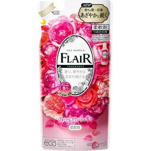 【送料込・まとめ買い×10個セット】花王 フレア フレグランス 柔軟剤 フローラルスウィートの香り つめかえ用 400ml