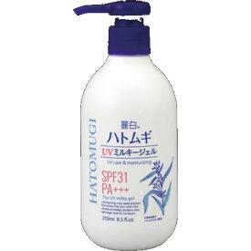 熊野油脂 麗白 ハトムギ UVミルキージェル 250ml (4513574027732)