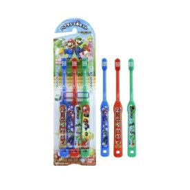 【令和・早い者勝ちセール】バンダイ ハブラシ スーパーマリオ 3本セット (子供歯ブラシ)(4549660185192)