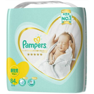 P&G Pampers 빵 퍼스 첫 피부에의 가장 테이프 신생아용 84장들이 울트라 점보(어린이용 기저귀) ( 4902430679176 )