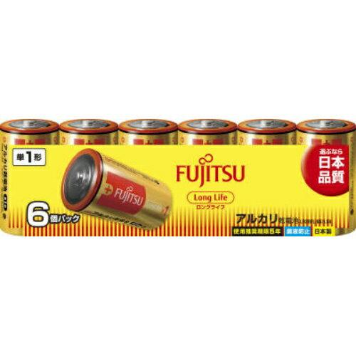 【勤労感謝の日セール!】 富士通 ロングライフ アルカリ乾電池 単1形 1.5V 6個パック 日本製 LR20FL(6S) 1個 (4976680276102)