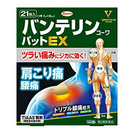 【第2類医薬品】Kowa 興和 バンテリンコーワ パット EX 21枚入