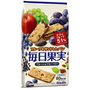 【まとめ買い×5】江崎グリコ 毎日果実 プルーン&ブルーベリー 15枚