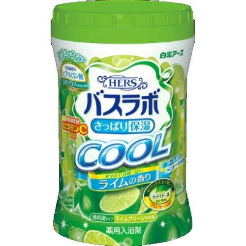白元アース HERS バスラボボトル クール ライムの香り 薬用入浴剤 640g