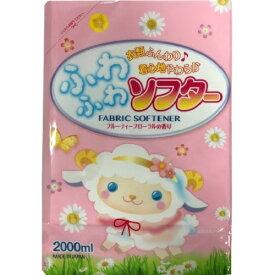 ロケット石鹸 ふわふわソフター フルーティフローラル 詰替用 2000ml