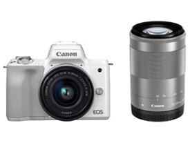 EOS Kiss M ダブルズームキット [ホワイト] CANON デジタル一眼カメラ【送料無料】【新品】