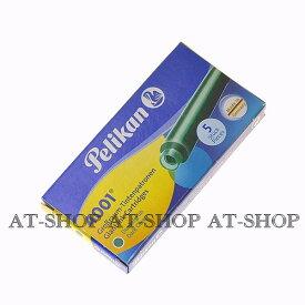 Pelikan ペリカン専用 万年筆 インク カートリッジ 5本セット ダークグリーン GTP-5