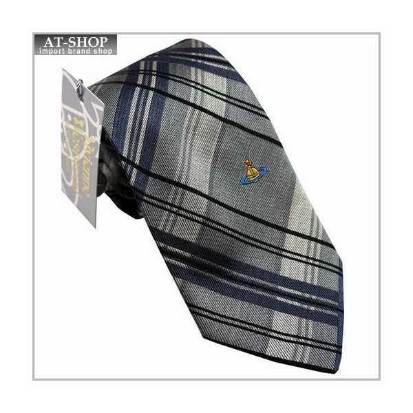 Vivienne Westwood ヴィヴィアン・ウェストウッド ネクタイ 8.5cm チェック柄 グレー系 24T85-P42color6 お祝いギフト プレゼント 海外ブランド メンズ ネクタイ