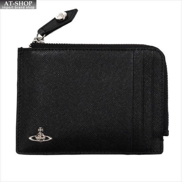 【あす楽】Vivienne Westwood ヴィヴィアン・ウェストウッド 財布サイフ NO,8 KENT ファスナー式小銭入れ カードケース 33.372 BLACK 17SS ブラック