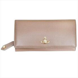 Vivienne Westwood ヴィヴィアン・ウェストウッド 財布サイフ NO,10 NAPPA 二つ折り長財布 51060025 NUTMEG 18SS ベージュ