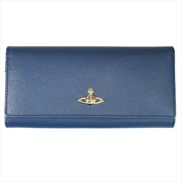 【あす楽】Vivienne Westwood ヴィヴィアン・ウェストウッド 財布サイフ NO,8 OPIO SAFFIANO 二つ折り長財布 32.1409 BLUE 18SS ブルー