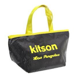 【あす楽】KITSON キットソン バッグ スパンコール ミニトートバッグ 3577 ブラック/ネオンイエロー