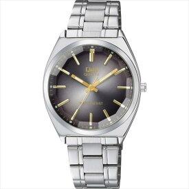 【あす楽】CITIZEN シチズン 腕時計 Q&Q カットガラス クラシック メンズ時計 QB78-202 ブラック/シルバー