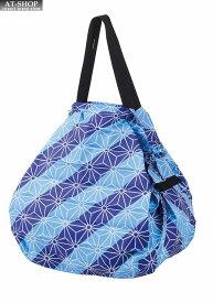 Shupatto シュパット マーナ エコバッグ 一気にたためるコンパクトバッグ 和柄 麻の葉 正規品