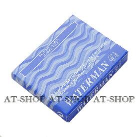 【あす楽】WATERMAN ウォーターマン専用 万年筆 インク カートリッジ 8本セット フロリダブルー STD23 S2270230